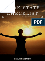 The Morning Peak-State Checklist by Benjamin P. Hardy