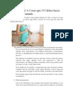 ¡Embarazada! 6 Cosas Que NO Debes Hacer Por Nada Del Mundo