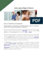 10 Exámenes Ginecológicos Básicos