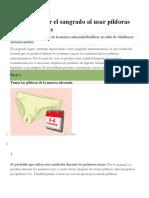 Cómo Prevenir El Sangrado Al Usar Píldoras Anticonceptivas