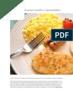 7 Recetas de Desayunos Sencillos y Supersaludables
