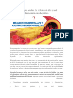 Señales Que Alertan de Colesterol Alto y Mal Funcionamiento Hepático