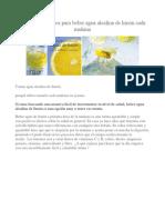 Poderosos Motivos Para Beber Agua Alcalina de Limón Cada Mañana
