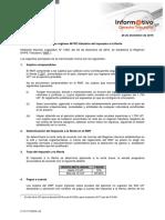 Informativo Tributario Establecen Régimen MYPE Tributario Del Impuesto a La Renta 26.12.16