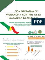 Informe Gestion Primer Trimestre Marzo 2015