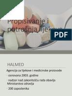 Propisivanje i Potrošnja lijekova
