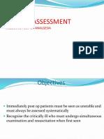 Post Op Assessment