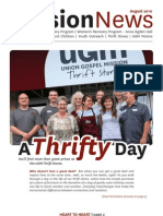 August 2010 Spokane Union Gospel Mission Newsletter