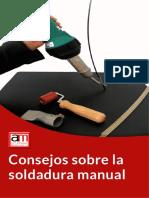 Soldadura manual de laminas de PVC