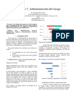 Capitulo 7, Administracion Del Riesgo -Administración de proyectos de Ted Klastorin