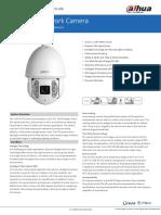 Datasheet 2MP PTZ Network Camera DH-SD6AEA230FN-HNI v001 004