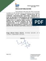 Declaratoria de Procedencia de Registro de Precandidatura de Martha Erika Alonso Hidalgo