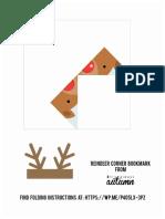 Reindeer Origami Bookmark