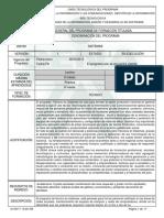 Informe Programa de Formación Titulada Sistemas