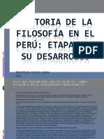 Historia de La Filosofa en El Peru