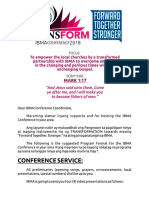 Provincial Conference Program Format