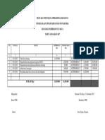 Buku Kas Umum Dana Operasional Kegiatan