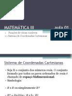 Matematemática III - Aula 01