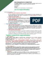 RESUMEN TEJIDO CONJUNTIVO O CONECTIVO.docx