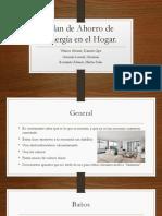 Plan de Ahorro de Energía en El Hogar