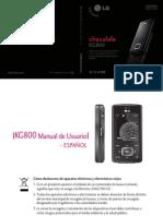 LG KG800 en español