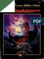 Ad&d Abilità e Poteri (Tsr 5010)