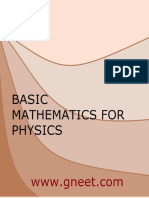 Basic Mathematics for Physics