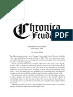 Chronica Feudalis Extras