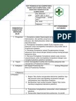 8.7.1.4 SOP Peningkatan Kompetensi,Pemetaan Kompetensi,Rencana Peningkatan Kompetensi,Bukti Pelaksanaan
