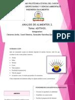 Exposicion de Analisis Tema ADITIVOS