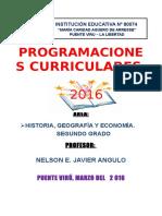 Programación de Historia y Geografía 2016 Con Rutas - Puente Virú
