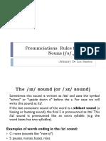 Pronunciations Rules for Plural Nouns