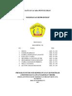 Satuan Acara Penyuluhan Kesehatan Reproduksi (Sap) Kelompok 5 Kelas b