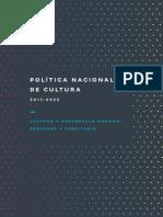 Politica Nacional Cultura 2017 2022