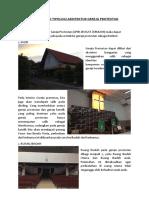 Rangkuman Tipologi Arsitektur Gereja Protestan