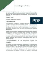 Diagnóstico de Mercadeo de Una Empresa Cubana