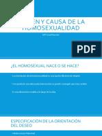 Origen y Causa de La Homosexualidad