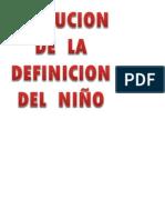 Evolucion de La Definicion Del Niño