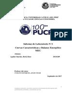 Informe de Laboratorio 3 MEC Curvas Caracteristicas pucp