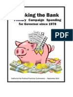 Breaking the Bank - Primary Campaign Spending for Governor since 1978 - California Fair Political Practices Commission