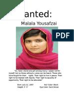 wanted malala yousafzai