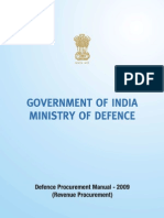 Defence Procurement Manual 2009