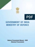 Defence Procurement Manual 2009