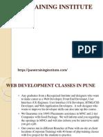 Best Web Development Courses- Classes- Institutes in Pune | Pune Training Institute