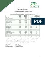 ACIRS G6 2014 Product Information Leaflet