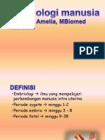 Embriologi manusia