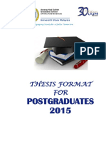 Thesis Format Post Graduat 2015