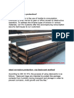 Steel Corrosion Protection via Desiccant Method