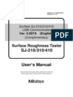 Surftest SJ-210_310_410 USB Communication Manual V5.007A