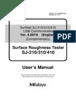 Surftest SJ-210_310_410 USB Communication Manual V5.007A
